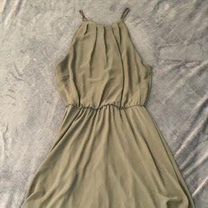 true olive green Lush dress